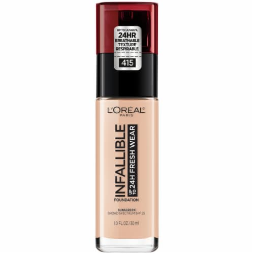 L'Oreal Paris Infallible 24-Hour Fresh Wear Lightweight Foundation - Rose Ivory 415 Perspective: front