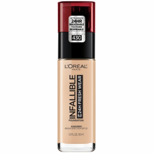 L'Oreal Paris Infallible Fresh Wear Lightweight Ivory Buff 430 Foundation Perspective: front