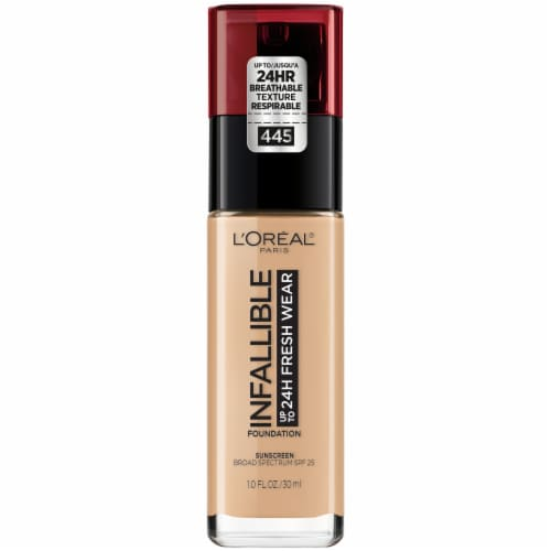 L'Oreal Paris Infallible Fresh Wear Lightweight Vanilla 445 Foundation Perspective: front