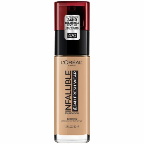 L'Oreal Paris Infallible 24-Hour Fresh Wear Radiant Lightweight Foundation - Honey 470 Perspective: front