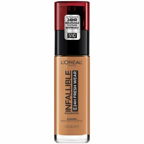 L'Oreal Paris Infallible 24 Hour Fresh Wear 510 Hazelnut Liquid Foundation Perspective: front