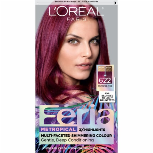 L'Oréal Paris Feria Multi-Faceted Shimmering Fuchsia-Cha Permanent Hair Color Perspective: front
