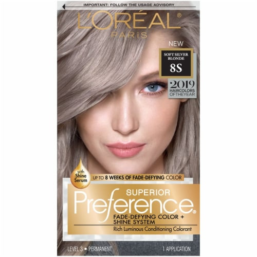 L'Oreal Paris Superior Preference Soft Silver Blonde Permanent Hair Color Perspective: front