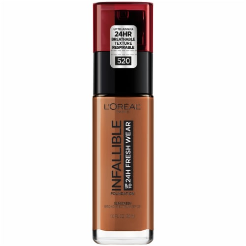 L'Oreal Paris Infallible 24-Hour Fresh Wear Liquid Foundation – Sienna 520 Perspective: front