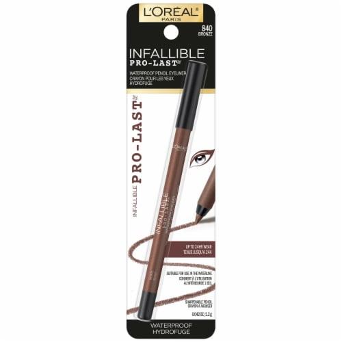 L'Oréal Paris Infallible 24-Hour Pro-Last Waterproof Pencil Eyeliner – Bronze 840 Perspective: front