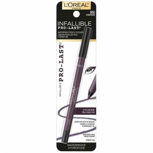 L'Oréal Paris Infallible 24-Hour Pro-Last Waterproof Pencil Eyeliner – Aubergine 850 Perspective: front
