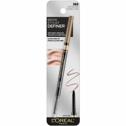 L'Oreal Paris Brown Stylist Definer Light Blonde 385 Eyebrow Pencil Perspective: front