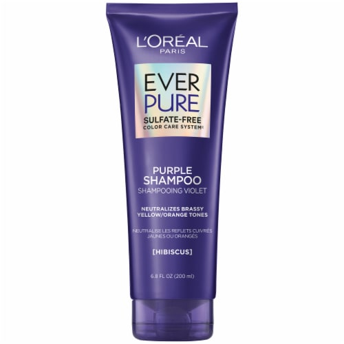 L'Oreal Paris EverPure Brass Toning Sulfate-Free Purple Shampoo Perspective: front