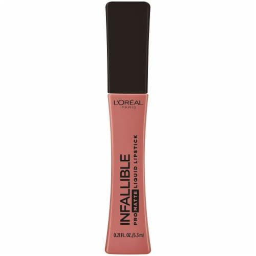 L'Oreal Paris Infallable Les Macarons Scented Pro-Matte Mon Caramel Liquid Lipstick Perspective: front