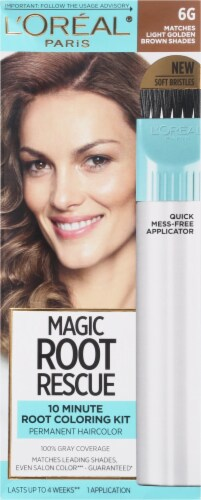 L'Oreal Paris Magic Root Rescue 6G Light Golden Brown Hair Color Perspective: front