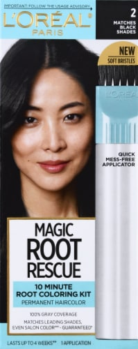 L'Oreal Paris Magic Root Rescue 2 Black Hair Color Perspective: front