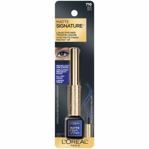 L'Oreal Paris Matte Signature 710 Blue Liquid Dip Eyeliner Perspective: front