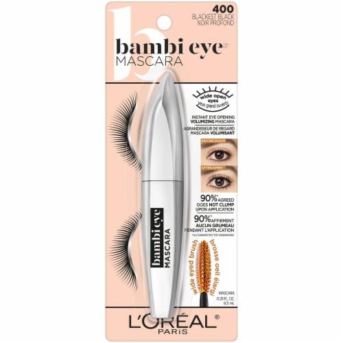 L'Oreal Paris Bambi Eye 400 Blackest Black Mascara Perspective: front