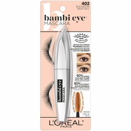 L'Oreal Paris Bambi Eye 402 Black Brown Mascara Perspective: front