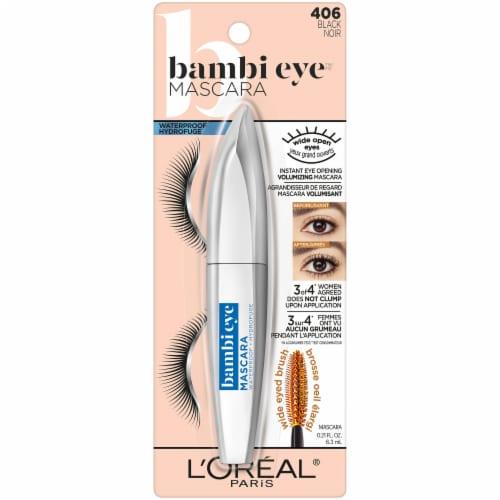 L'Oreal Paris Bambi Eye 406 Black Waterproof Mascara Perspective: front