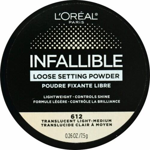 L'Oreal Paris Infallible 612 Translucent Light-Medium Loose Setting Powder Perspective: front