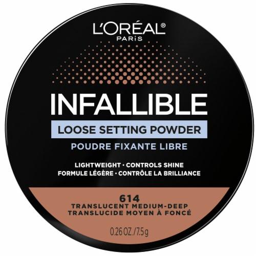 L'Oreal Paris Infallible 614 Translucent Medium-Deep Loose Setting Powder Perspective: front