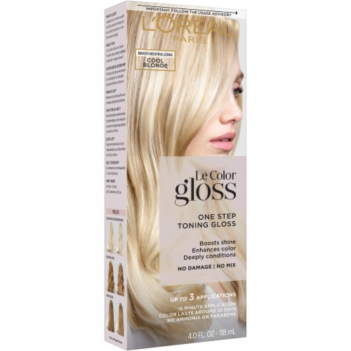 L'Oreal Paris Le Color Gloss Cool Blonde Temporary Hair Color Perspective: front