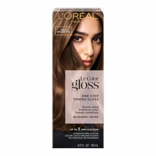 L'Oreal Paris Le Color Gloss Rich Brunette Temporary Hair Color Perspective: front