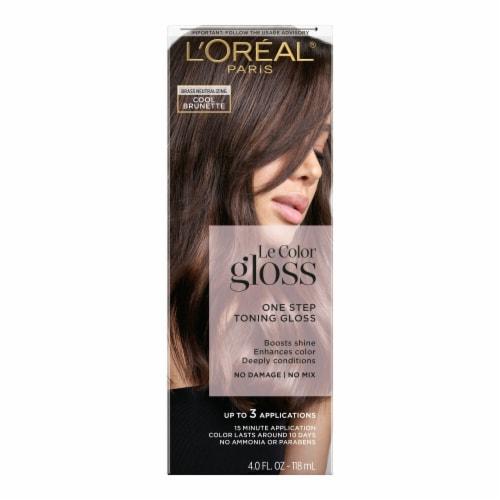 L'Oreal Paris Le Color Gloss Cool Brunette Temporary Hair Color Perspective: front