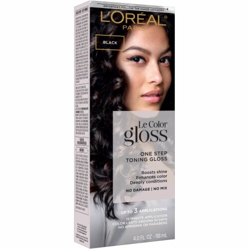L'Oreal Paris Le Color Gloss Black Temporary Hair Color Perspective: front