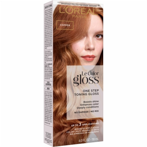 L'Oreal Paris Le Color Gloss Copper Temporary Hair Color Perspective: front