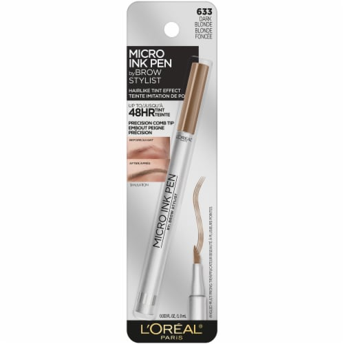 L'Oreal Paris Brow Stylist Micro Ink Pen 633 Dark Blonde Brow Marker Perspective: front