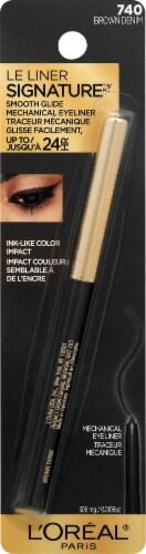 L'Oreal Paris Le Liner Signature Brown Denim Mechanical Eyeliner Perspective: front