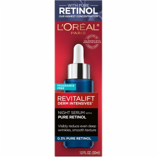 L'Oreal Paris Revitalift Derm Intensives Retinol Night Serum Perspective: front