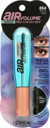 L'Oreal Air Volume Black Waterproof Mega Mascara Perspective: front