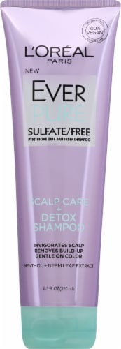 L'Oreal Paris Ever Pure Scalp Care + Detox Shampoo Perspective: front