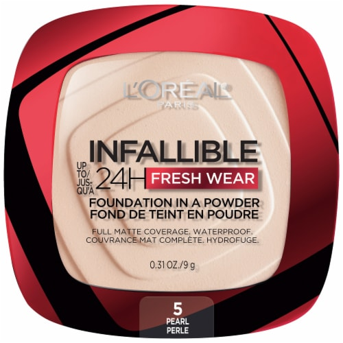 L'Oreal Paris Infallible Fresh Wear Pearl Powder Foundation Perspective: front