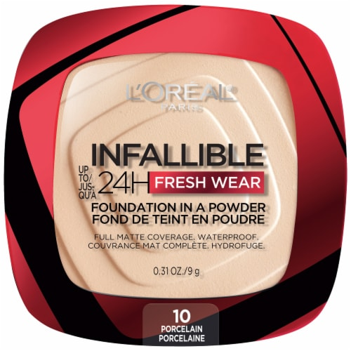 L'Oreal Paris Infallible Fresh Wear Porcelain Powder Foundation Perspective: front