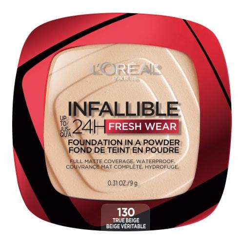 L'Oreal Paris Infallible Fresh Wear True Beige Powder Foundation Perspective: front