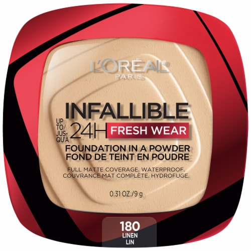 L'Oreal Paris Infallible Fresh Wear Linen Powder Foundation Perspective: front