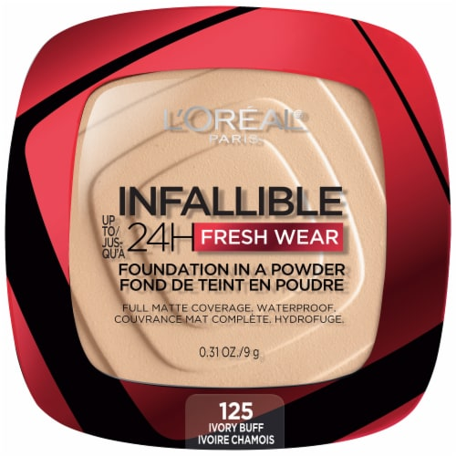 L'Oreal Paris Infallible Fresh Wear Ivory Buff Powder Foundation Perspective: front