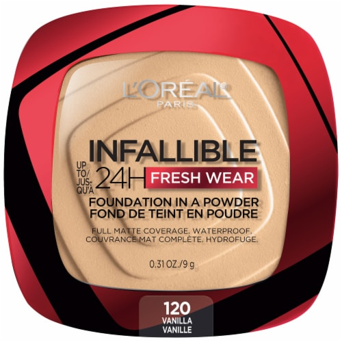 L'Oreal Paris Infallible Fresh Wear Vanilla Powder Foundation Perspective: front