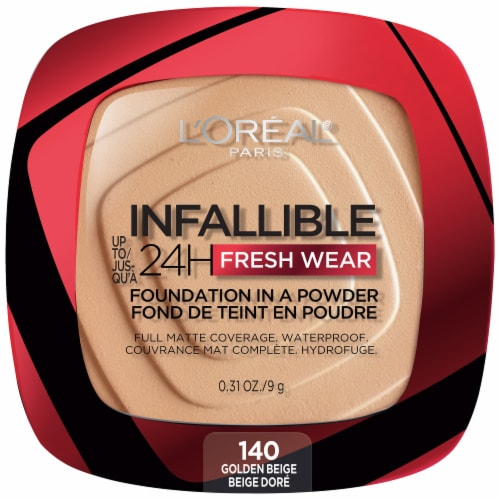 L'Oreal Paris Infallible Fresh Wear Golden Beige Powder Foundation Perspective: front