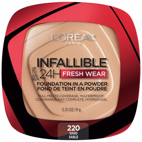 L'Oreal Paris Infallible Fresh Wear Sand Powder Foundation Perspective: front