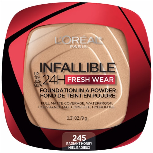 L'Oreal Paris Infallible Fresh Wear Radiant Honey Powder Foundation Perspective: front