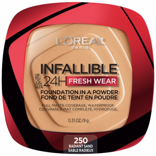 L'Oreal Paris Infallible Fresh Wear Radiant Sand Powder Foundation Perspective: front
