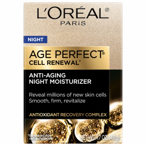 L'Oreal® Paris Age Perfect® Cell Renewal Anti-Aging Night Moisturizer Perspective: front