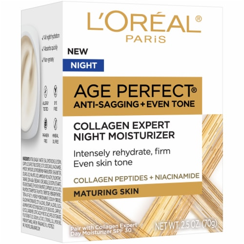 L'Oreal® Paris Age Perfect® Collagen Expert Night Moisturizer Perspective: front