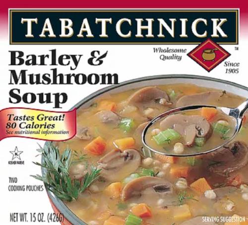 Tabatchnik Barley & Mushroom Soup Perspective: front