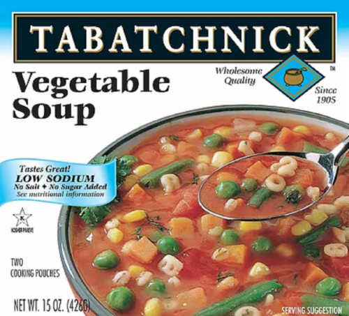 Tabatchnick Low Sodium Vegetable Soup Perspective: front