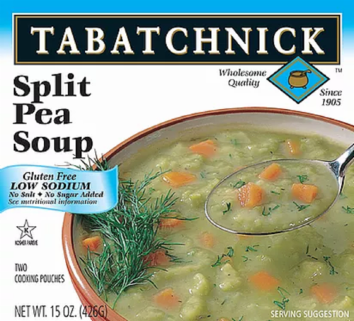 Tabatchnick Low Sodium Split Pea Soup Perspective: front