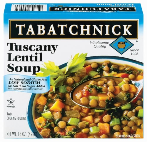 Tabatchnick Tuscany Lentil Soup Low Sodium Perspective: front