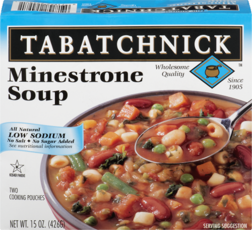 Tabatchnick Minestrone Low Sodium Soup Perspective: front