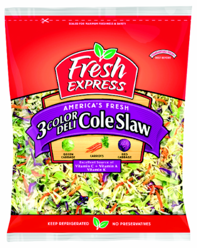 Fresh Express 3-Color Deli Cole Slaw Mix Perspective: front