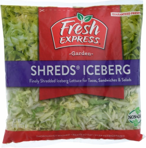 Fresh Express Iceberg Shreds Perspective: front
